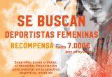 Se buscan mujeres deportistas que necesiten financiación