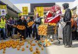 Cientos de agricultores valencianos protestan en Alcampo para frenar los abusos de precios