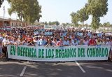 manifestacion regadíos condado