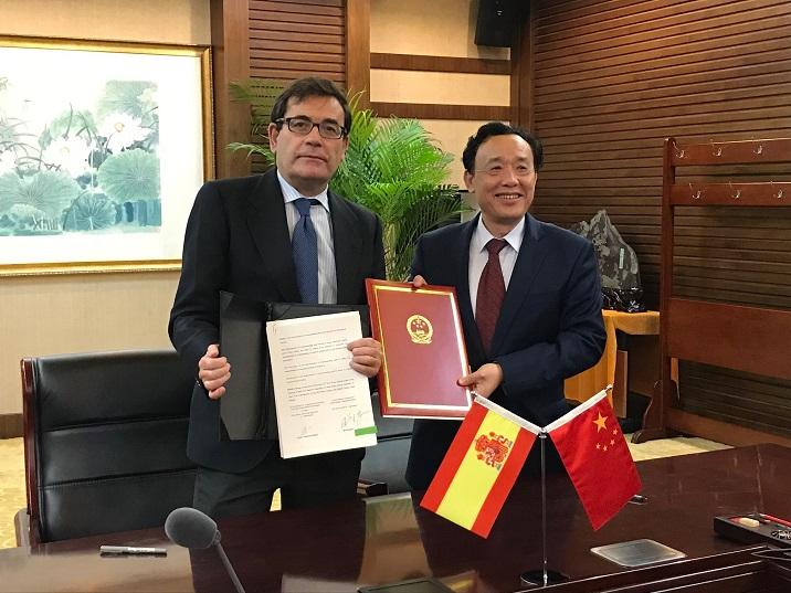 cabanas y viceministro agricultura china protocolo melocotones y ciruelas