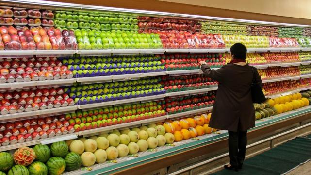supermercado lineal fruta