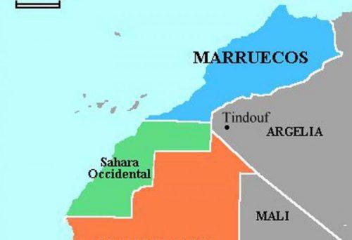 mapa marruecos sahara