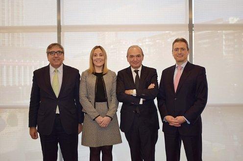 firma convenio Grupo Cajamar, ICO, BEI y FEI