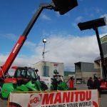 Exposición de Indecons con las máquinas de Manitou durante el 40 aniversario de la Asociación Provincial de Agricultores y Ganaderos de Guadalajara