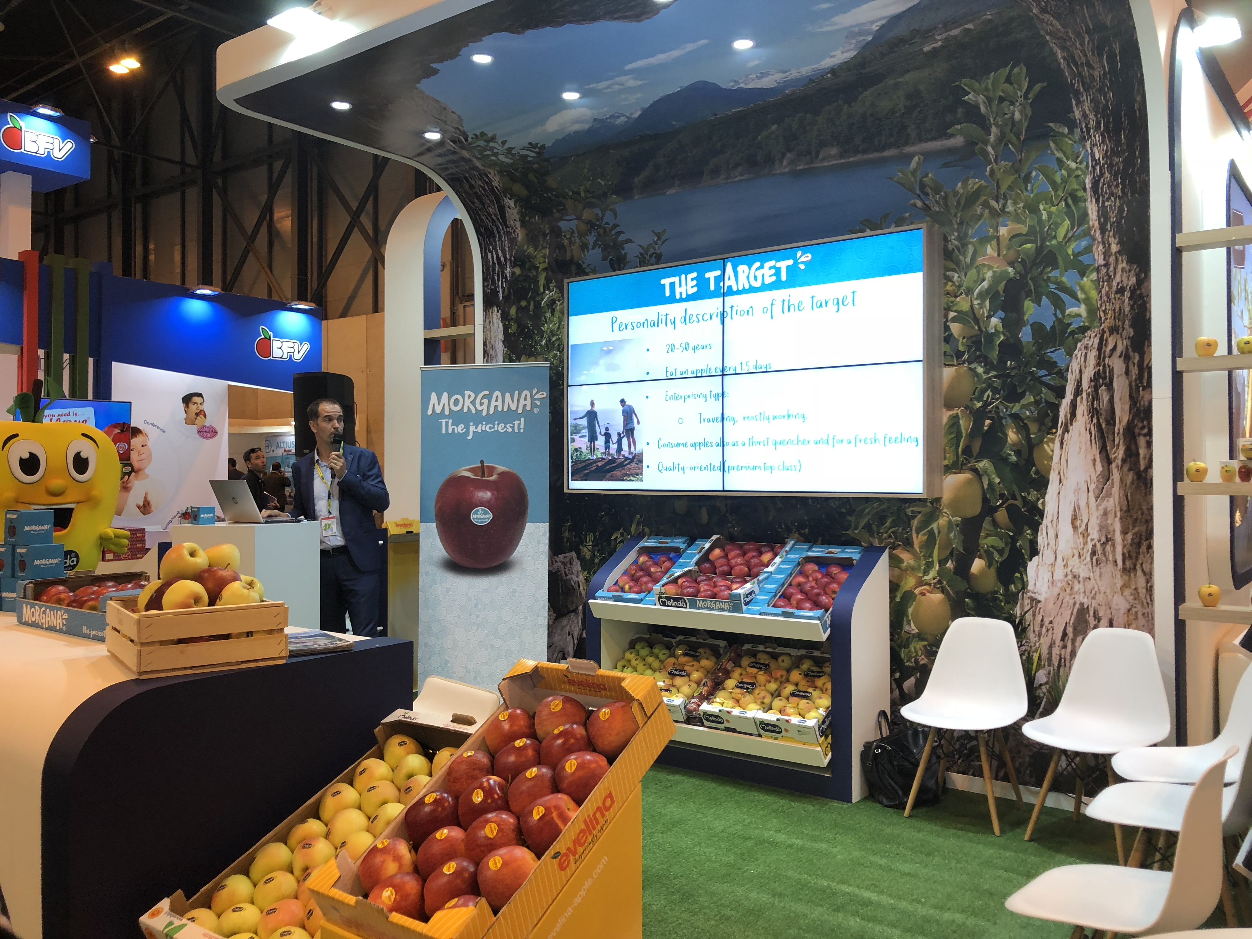 presentación manzana morgana Melinda en FA 2018