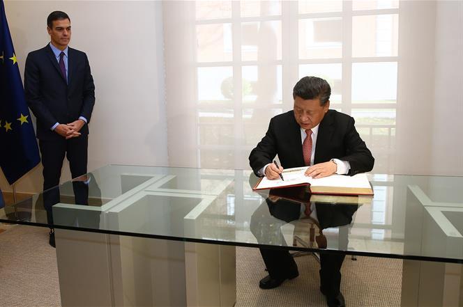 firma protocolo uva presidente chino xi y pedro sanchez