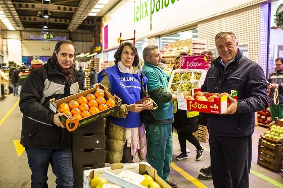 Mercamadrid solidaridad Empresas frutas donan productos