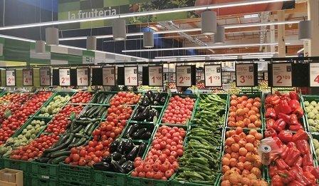 bon preu supermercado lineal fruta