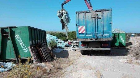 limpieza aproa residuos campo