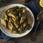 plato de alcachofa