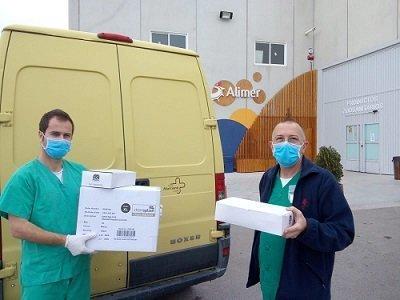 ALIMER Recogida por personal del hospital de material EPI
