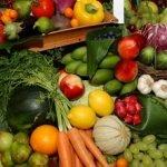 frutas y verduras mapa